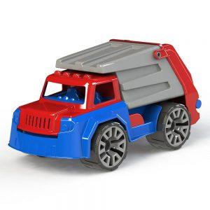 Детско камионче тип за смет със много движещи се части - Играчка боклукчийски камион