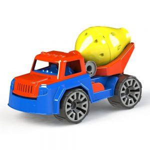 Камионче-тип-бетоновоз,-пластмасова-играчка-за-деца