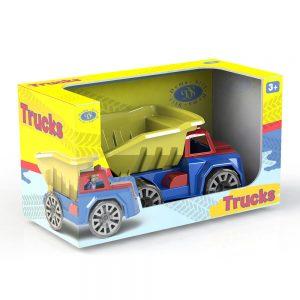 Камионче Самосвал Dema Stil с човешка фигурка, 30см в картонена кутия