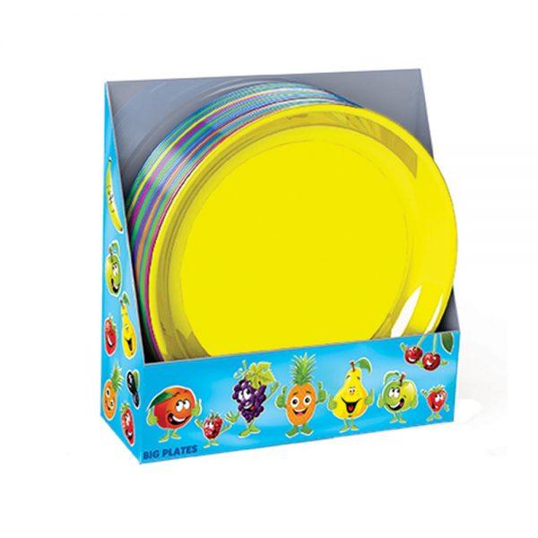 Голяма чиния за деца и за детски партита в различни цветове