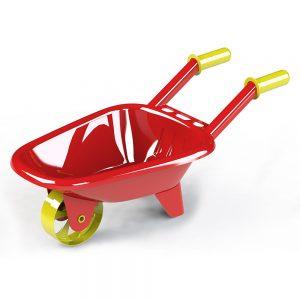 Детска градинска количка в червен цвят дръжки и колело
