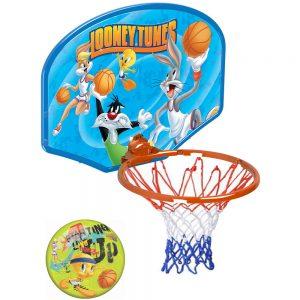 Детска играчка Баскетболен кош с героите Весели мелодии