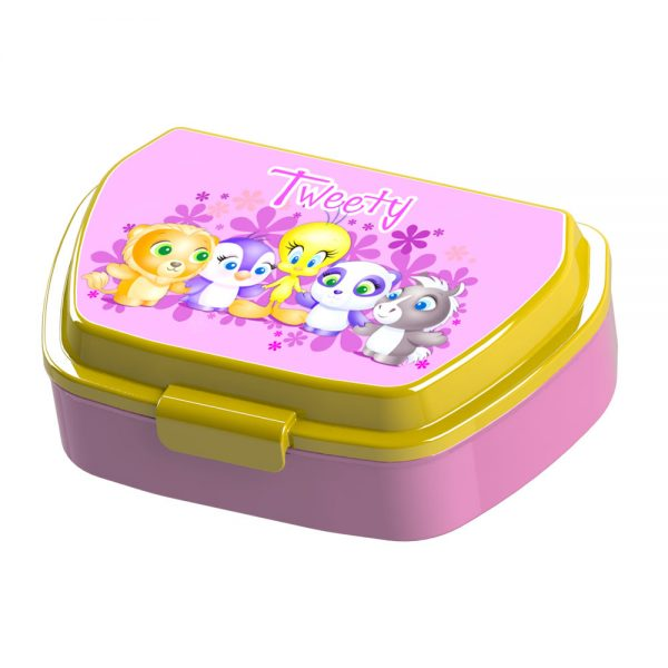 Детска кутия за храна Тути - Розова кутия за обяд за момиченца