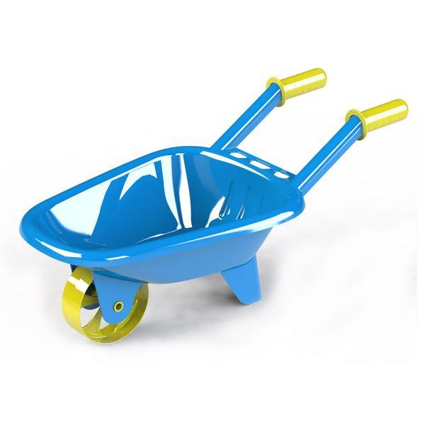 Детска ръчна градинска - строителна количка с едно колело