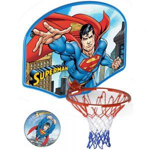 Детски-голям-баскетболен-комплект-Суперман
