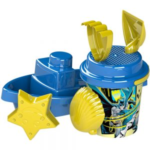 Детски комплект от пластмасови играчки, лодка, кофичка Батман и аксесоари за пясък