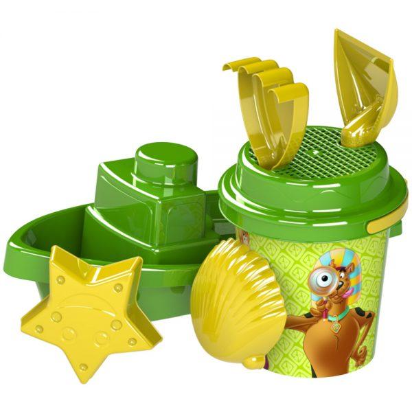 Детски комплект от пластмасови плажни играчки Скуби Ди за игра с пясък и морската вода