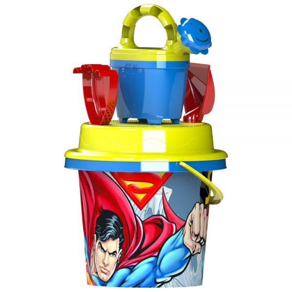 Детски комплект от пластмасови плажни играчки за игра с пясък Суперман