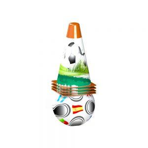 Детски футболен комплект от 4 цветни конуса и малка топка