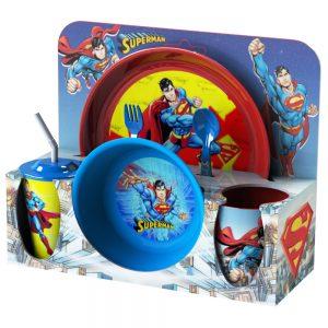 Комплекти детски прибори за хранене от 8 части - Суперман детски прибори