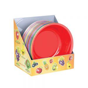 Малки пластмасови купи и чинийки за храна и детски партита