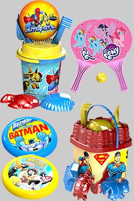 Плажни играчки и кофички на едро и онлайн