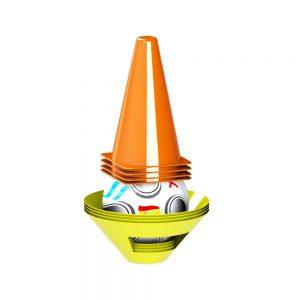 Топка с футболни конуси и тренировъчни препятствия за децата - Купи онлайн