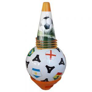 Детска топка за футбол с конуси и маркери - за футбол и игри на открито