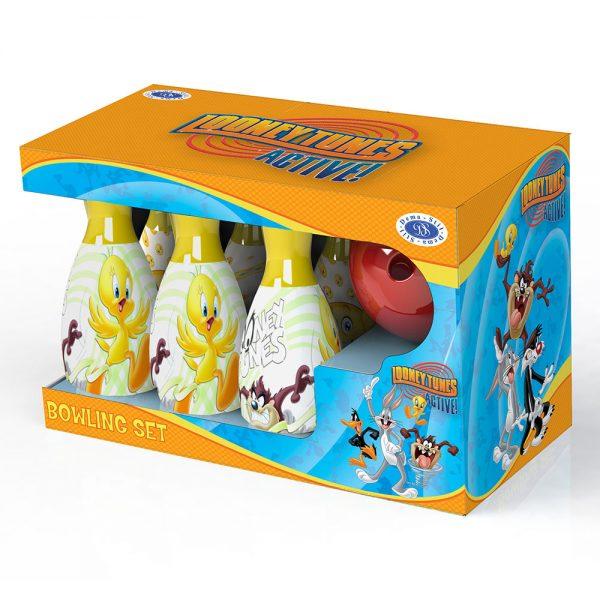 Детстка играчка Боулинг с кегли Looney Tunes и топка - Интересен подарък и играчка