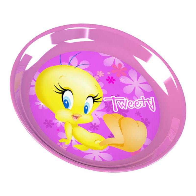 Розово пластмасова чинийка Туити - Перфектна за момиченца