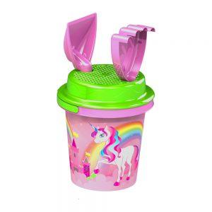 Детски комплект за плаж - Кофичка за пясък Вълшебното пони за момиче