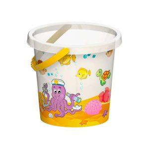 Детска прозрачна кофичка - Плажна кофичка за игра с вода и пясък