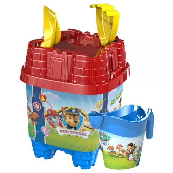 Детски плажен комплект с кофичка тип Замък - Детска кофичка Пес Патрул
