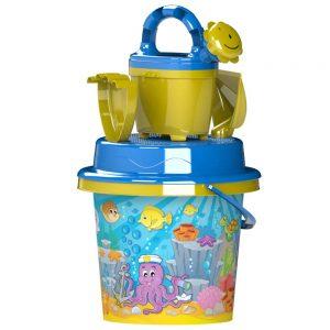 Детски играчки за пясък и пясъчник - Детска кофичка лопатка и гребло